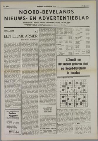 Noord-Bevelands Nieuws- en advertentieblad 1977-09-22