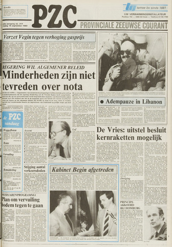 Provinciale Zeeuwse Courant 1983-09-16
