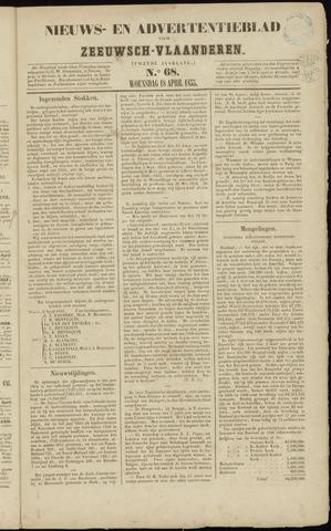 Ter Neuzensche Courant. Algemeen Nieuws- en Advertentieblad voor Zeeuwsch-Vlaanderen / Neuzensche Courant ... (idem) / (Algemeen) nieuws en advertentieblad voor Zeeuwsch-Vlaanderen 1855-04-18