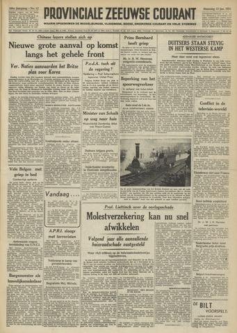 Provinciale Zeeuwse Courant 1951-01-15
