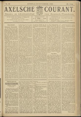 Axelsche Courant 1925-11-10