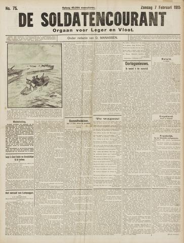 De Soldatencourant. Orgaan voor Leger en Vloot 1915-02-07