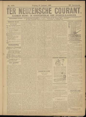 Ter Neuzensche Courant. Algemeen Nieuws- en Advertentieblad voor Zeeuwsch-Vlaanderen / Neuzensche Courant ... (idem) / (Algemeen) nieuws en advertentieblad voor Zeeuwsch-Vlaanderen 1928-01-27