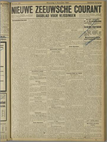 Nieuwe Zeeuwsche Courant 1920-11-03