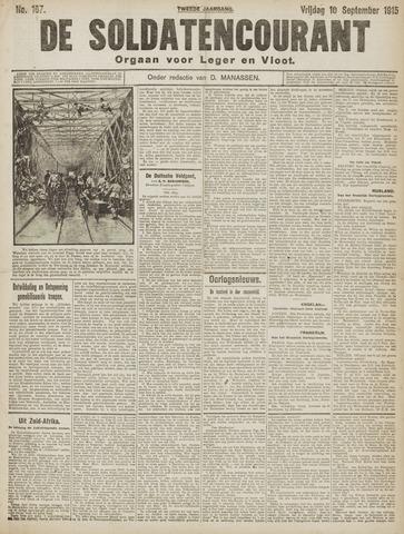 De Soldatencourant. Orgaan voor Leger en Vloot 1915-09-10