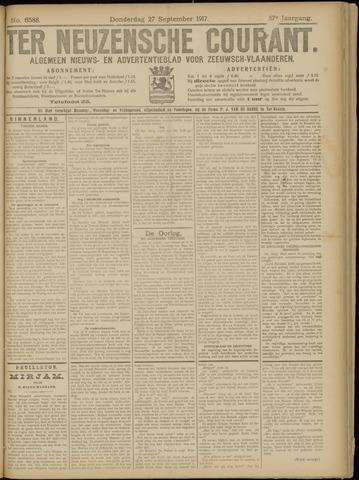 Ter Neuzensche Courant. Algemeen Nieuws- en Advertentieblad voor Zeeuwsch-Vlaanderen / Neuzensche Courant ... (idem) / (Algemeen) nieuws en advertentieblad voor Zeeuwsch-Vlaanderen 1917-09-27