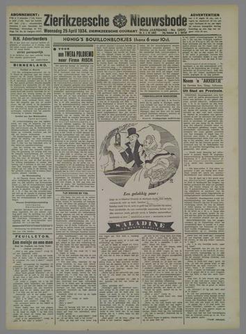 Zierikzeesche Nieuwsbode 1934-04-25