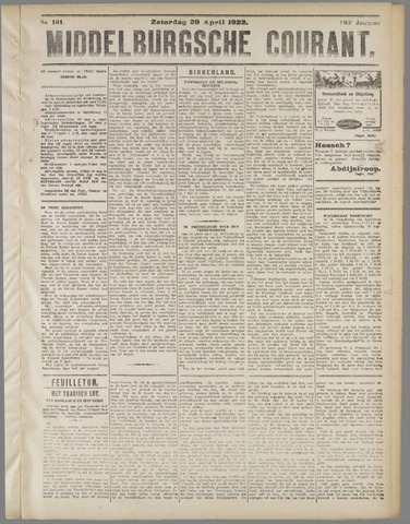 Middelburgsche Courant 1922-04-29