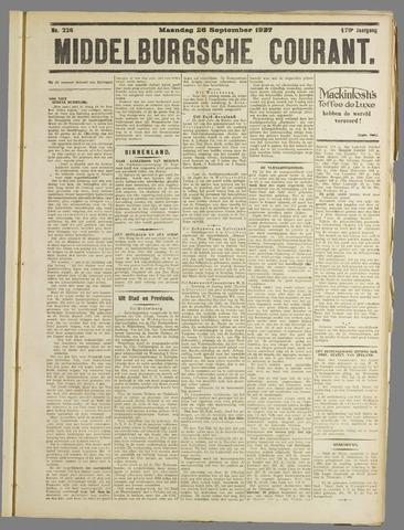 Middelburgsche Courant 1927-09-26