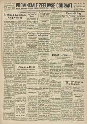Provinciale Zeeuwse Courant 1947-11-14