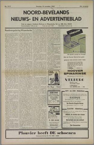 Noord-Bevelands Nieuws- en advertentieblad 1962-11-10