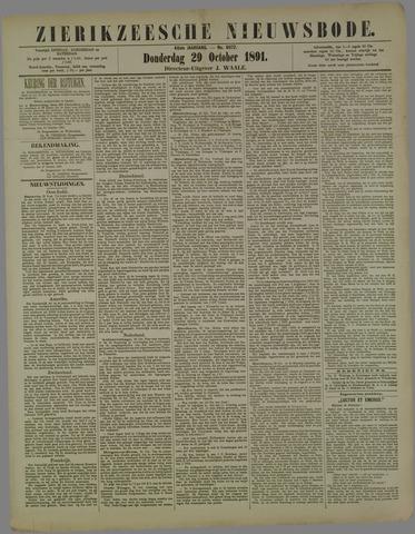 Zierikzeesche Nieuwsbode 1891-10-29