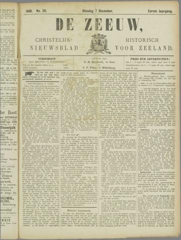 De Zeeuw. Christelijk-historisch nieuwsblad voor Zeeland 1886-12-07