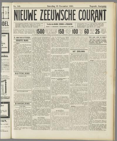 Nieuwe Zeeuwsche Courant 1913-11-29