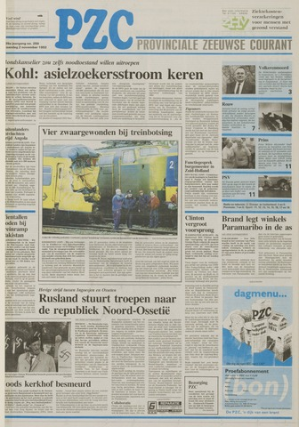 Provinciale Zeeuwse Courant 1992-11-02