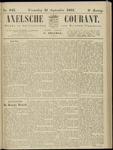 Axelsche Courant 1892-09-21