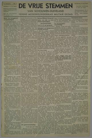 Vrije Stemmen van Schouwen-Duiveland, tevens mededeelingenblad Militair Gezag 1945-06-14