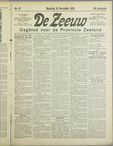 De Zeeuw. Christelijk-historisch nieuwsblad voor Zeeland 1930-11-24