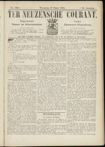 Ter Neuzensche Courant. Algemeen Nieuws- en Advertentieblad voor Zeeuwsch-Vlaanderen / Neuzensche Courant ... (idem) / (Algemeen) nieuws en advertentieblad voor Zeeuwsch-Vlaanderen 1878-03-27