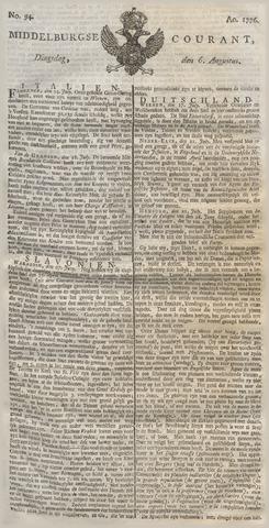 Middelburgsche Courant 1776-08-06