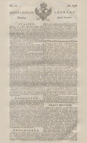 Middelburgsche Courant 1758-08-08