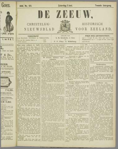 De Zeeuw. Christelijk-historisch nieuwsblad voor Zeeland 1888-06-02