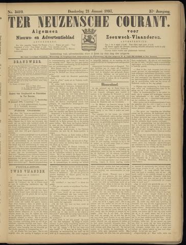 Ter Neuzensche Courant. Algemeen Nieuws- en Advertentieblad voor Zeeuwsch-Vlaanderen / Neuzensche Courant ... (idem) / (Algemeen) nieuws en advertentieblad voor Zeeuwsch-Vlaanderen 1897-01-21