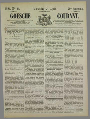 Goessche Courant 1884-04-24