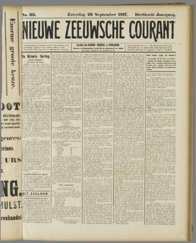 Nieuwe Zeeuwsche Courant 1917-09-29