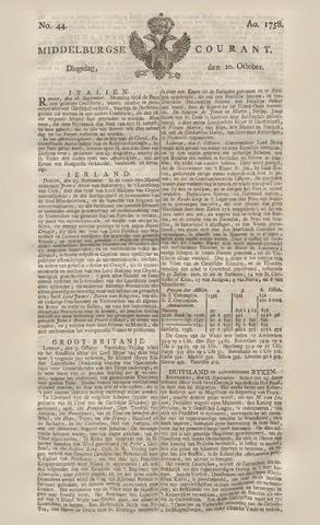 Middelburgsche Courant 1758-10-10