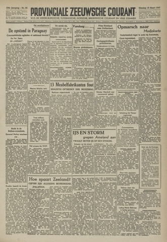 Provinciale Zeeuwse Courant 1947-03-18