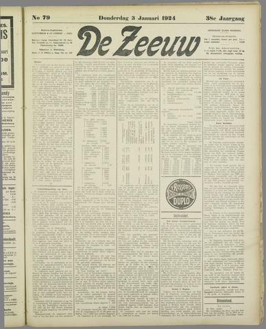 De Zeeuw. Christelijk-historisch nieuwsblad voor Zeeland 1924-01-03
