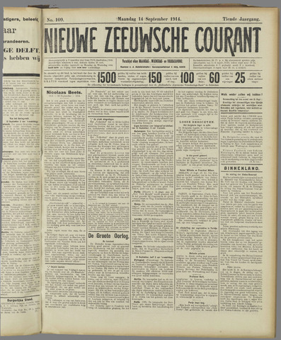 Nieuwe Zeeuwsche Courant 1914-09-14