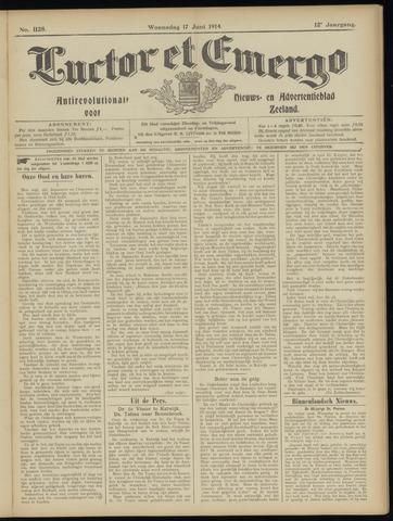 Luctor et Emergo. Antirevolutionair nieuws- en advertentieblad voor Zeeland / Zeeuwsch-Vlaanderen. Orgaan ter verspreiding van de christelijke beginselen in Zeeuwsch-Vlaanderen 1914-06-17