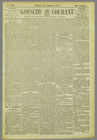 Goessche Courant 1919-08-26