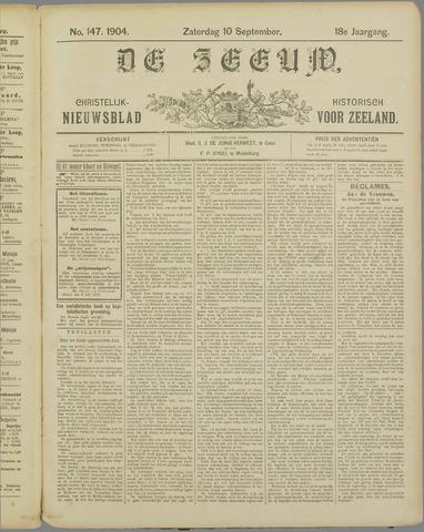 De Zeeuw. Christelijk-historisch nieuwsblad voor Zeeland 1904-09-10