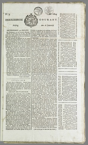 Zierikzeesche Courant 1824-01-16