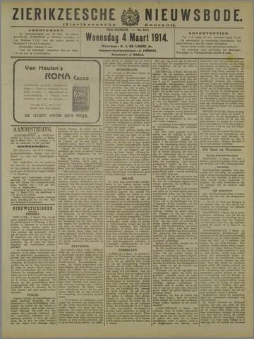 Zierikzeesche Nieuwsbode 1914-03-04