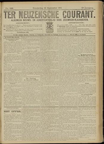 Ter Neuzensche Courant. Algemeen Nieuws- en Advertentieblad voor Zeeuwsch-Vlaanderen / Neuzensche Courant ... (idem) / (Algemeen) nieuws en advertentieblad voor Zeeuwsch-Vlaanderen 1915-09-30