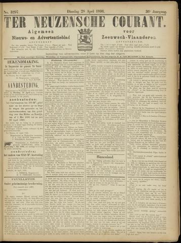Ter Neuzensche Courant. Algemeen Nieuws- en Advertentieblad voor Zeeuwsch-Vlaanderen / Neuzensche Courant ... (idem) / (Algemeen) nieuws en advertentieblad voor Zeeuwsch-Vlaanderen 1896-04-28