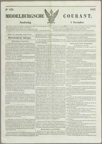 Middelburgsche Courant 1857-11-05