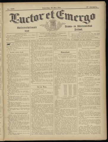 Luctor et Emergo. Antirevolutionair nieuws- en advertentieblad voor Zeeland / Zeeuwsch-Vlaanderen. Orgaan ter verspreiding van de christelijke beginselen in Zeeuwsch-Vlaanderen 1916-05-20