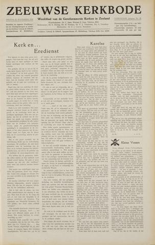 Zeeuwsche kerkbode, weekblad gewijd aan de belangen der gereformeerde kerken/ Zeeuwsch kerkblad 1958-11-21