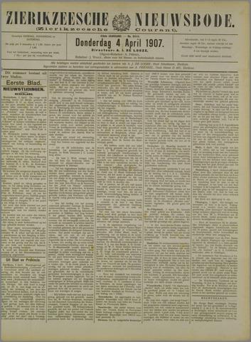 Zierikzeesche Nieuwsbode 1907-04-04
