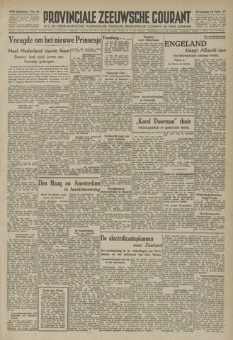 Provinciale Zeeuwse Courant 1947-02-19