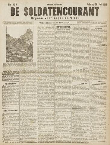 De Soldatencourant. Orgaan voor Leger en Vloot 1916-07-28