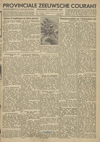 Provinciale Zeeuwse Courant 1944-01-05