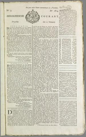 Zierikzeesche Courant 1814-01-11
