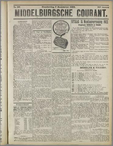 Middelburgsche Courant 1922-12-07
