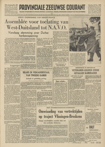 Provinciale Zeeuwse Courant 1954-12-28